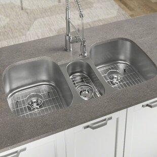 Triple Bowl Kitchen Sinks Triple kitchen sinks youll love wayfair triple kitchen sinks workwithnaturefo
