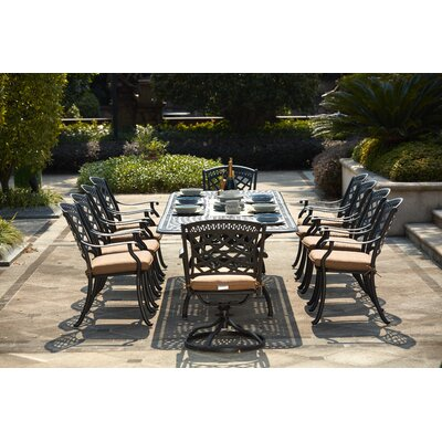 Lenahan 11 Piece Dining Set With Cushions by Alcott Hill Best Choices