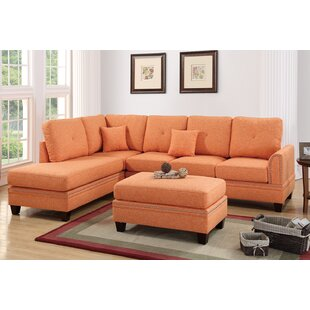 Alcott Hill David Reversible Sectional with Ottoman