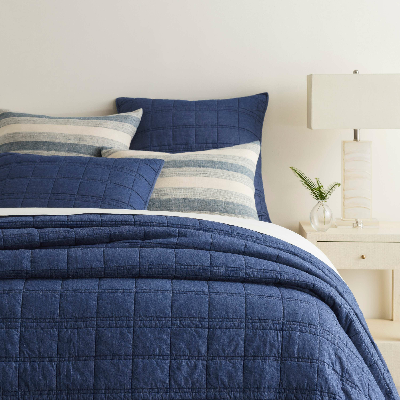 Pine Cone Hill Liam Blue Cotton Quilt Wayfair