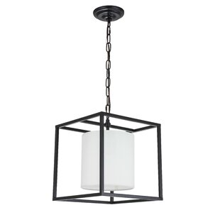 Zimmermann 1-Light Square Pendant by Orren Ellis