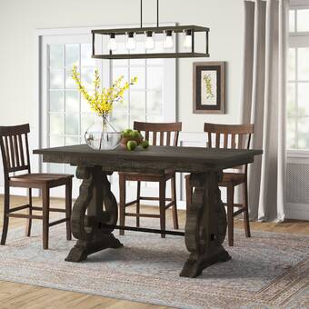 Fosston Solid Wood Dining Table Reviews Birch Lane