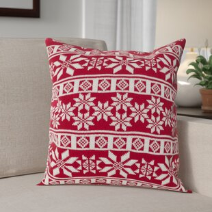 Winter Snowflake Nordic Throw Pillow by The Holiday Aisle Today Sale Only