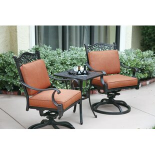 Astoria Grand Fairmont 3 Piece Conversation Set with Cushions