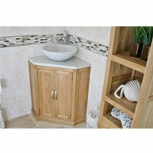 Deck Solid Oak 550mm Free-Standing Vanity Unit By Belfry Bathroom