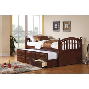 Seal Twin Platform Bed With Trundle by Harriet Bee Purchase