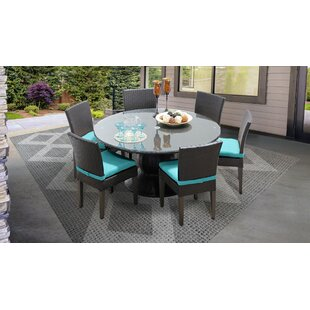 Meier Outdoor 7 Piece Dining Set with Cushions