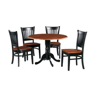 Shorewood 5 Piece Drop Leaf Solid Wood Dining Set August Grove