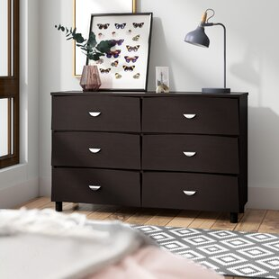 Distefano Commodious 6 Drawer Double Dresser by Latitude Run Wonderful