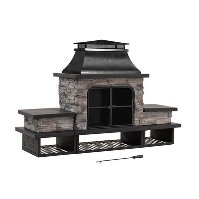 Outdoor Fireplaces & Fire Pits You'll Love in 2020 | Wayfair on Quillen Steel Outdoor Fireplace id=57546