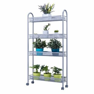 Lara 4-Tier Slim Storage Rolling Steel Baker's Rack