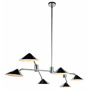 Donte 6-Light Sputnik Chandelier