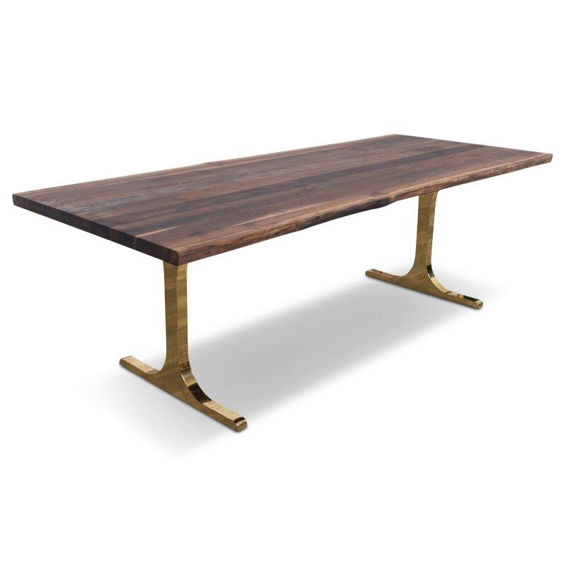 Eco Solid Walnut Slab Dining Table