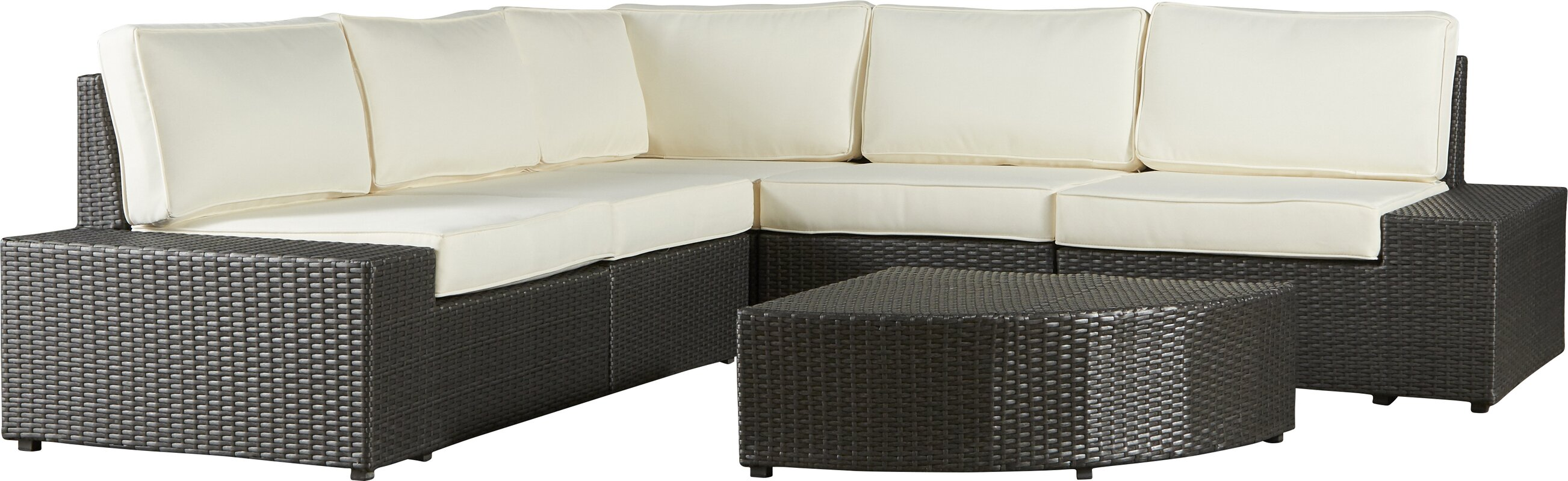Latitude Run Riam 7 Piece Rattan Conversation Set with Cushions