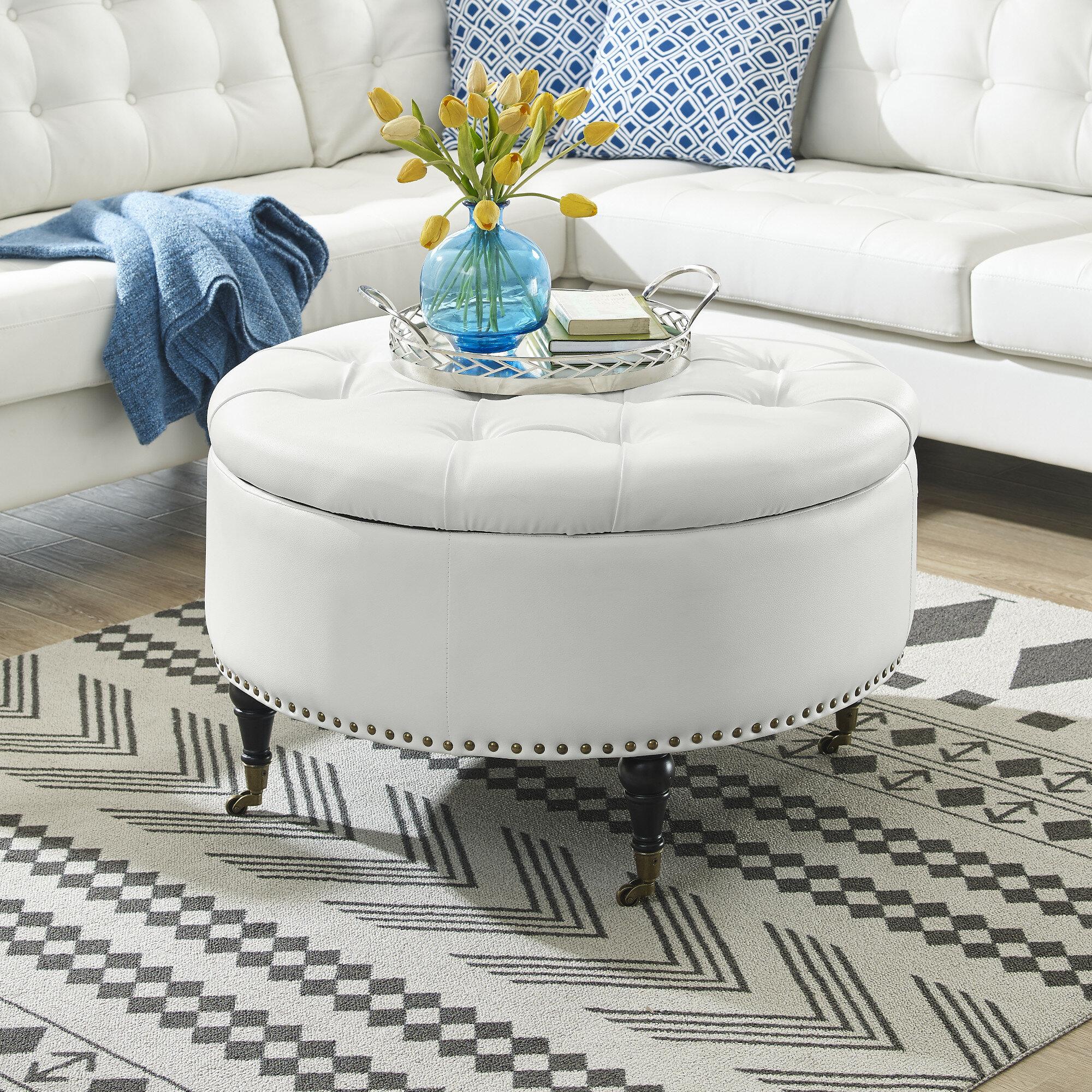 Inspired Home Co. Elizabeth Storage Ottoman & Reviews   Wayfair