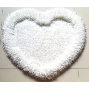 Best Molnar Soft Shaggy Hand-Tufted White Area Rug By Winston Porter