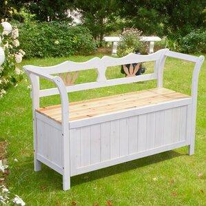 Garden Patio Wooden Storage Bench