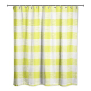 Nebraska Check Plaid Single Shower Curtain