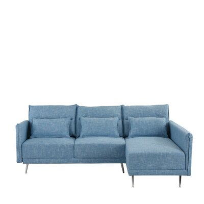 Turn on the Brights Lyndon Sectional Upholstery Color: Sky Blue