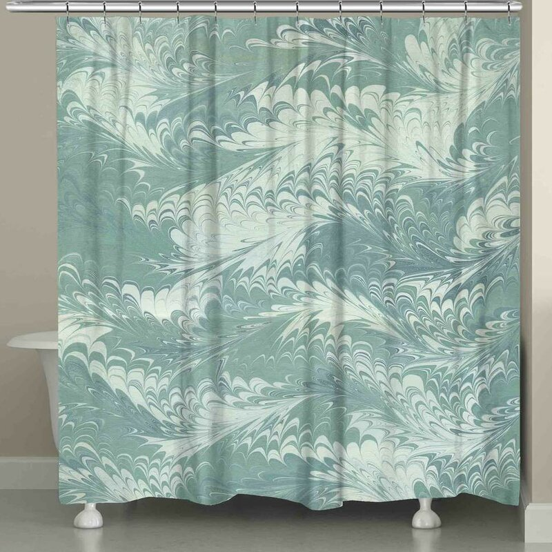 Harvin Marble Shower Curtain