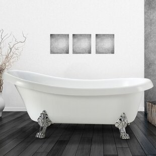 Best Reviews Clermont 63 x 28 Soaking Bathtub By Vinnova