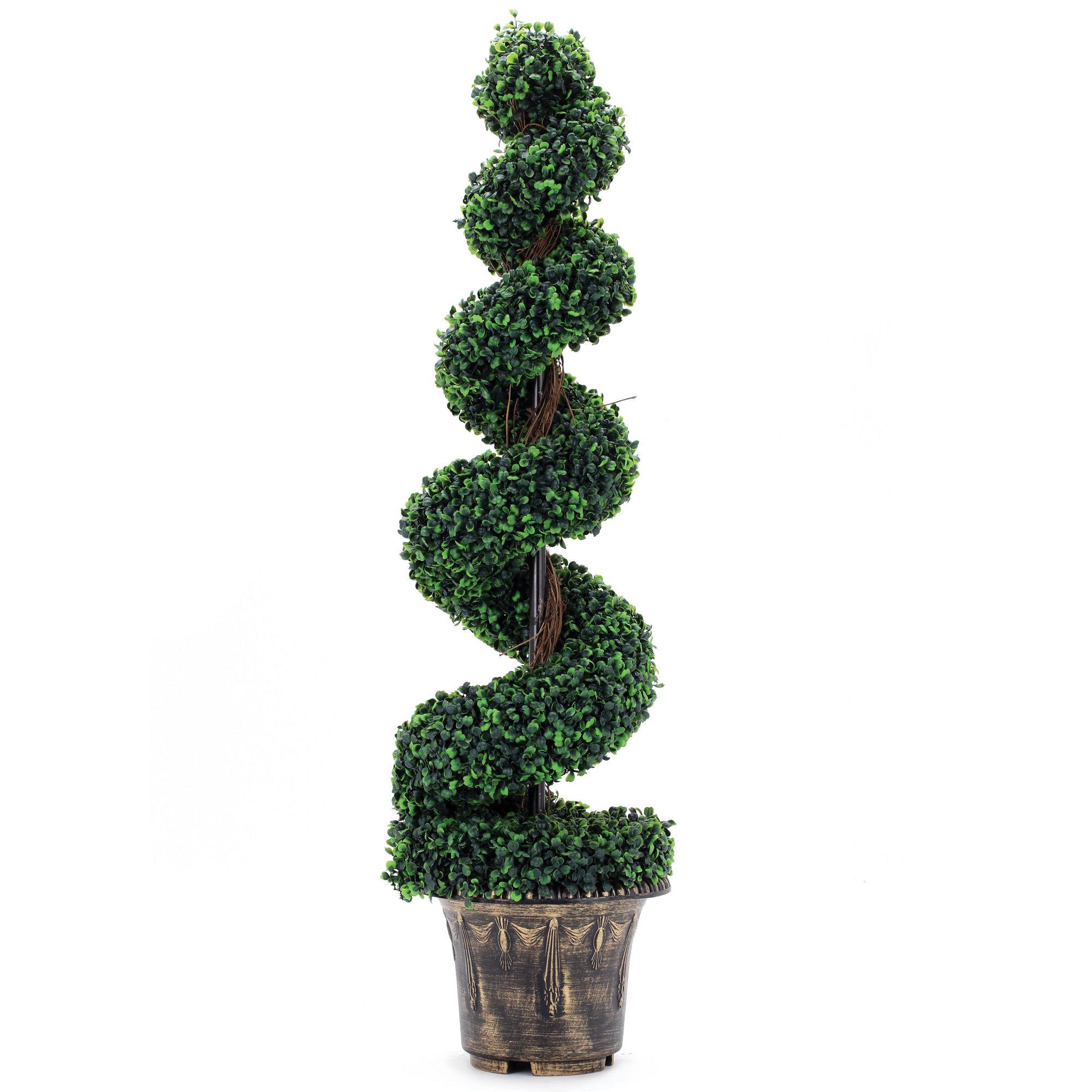 Fleur De Lis Living Artificial Tree Boxwood Topiary In Planter Wayfair