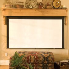 Silhouette Series M Argent White Electric Projection Screen by Draper