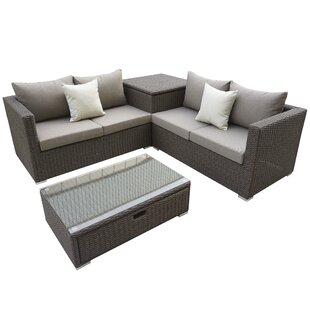 Brinkley 4 Piece Sectional Set With Cushions by Willa Arlo Interiors No Copoun