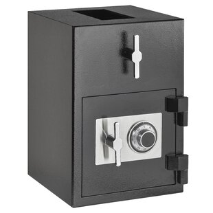 AdirOffice RotatingDrop Slot Safe Box with Dial/Combination Lock