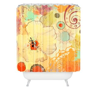 Irena Orlov Exotic Flowers Single Shower Curtain