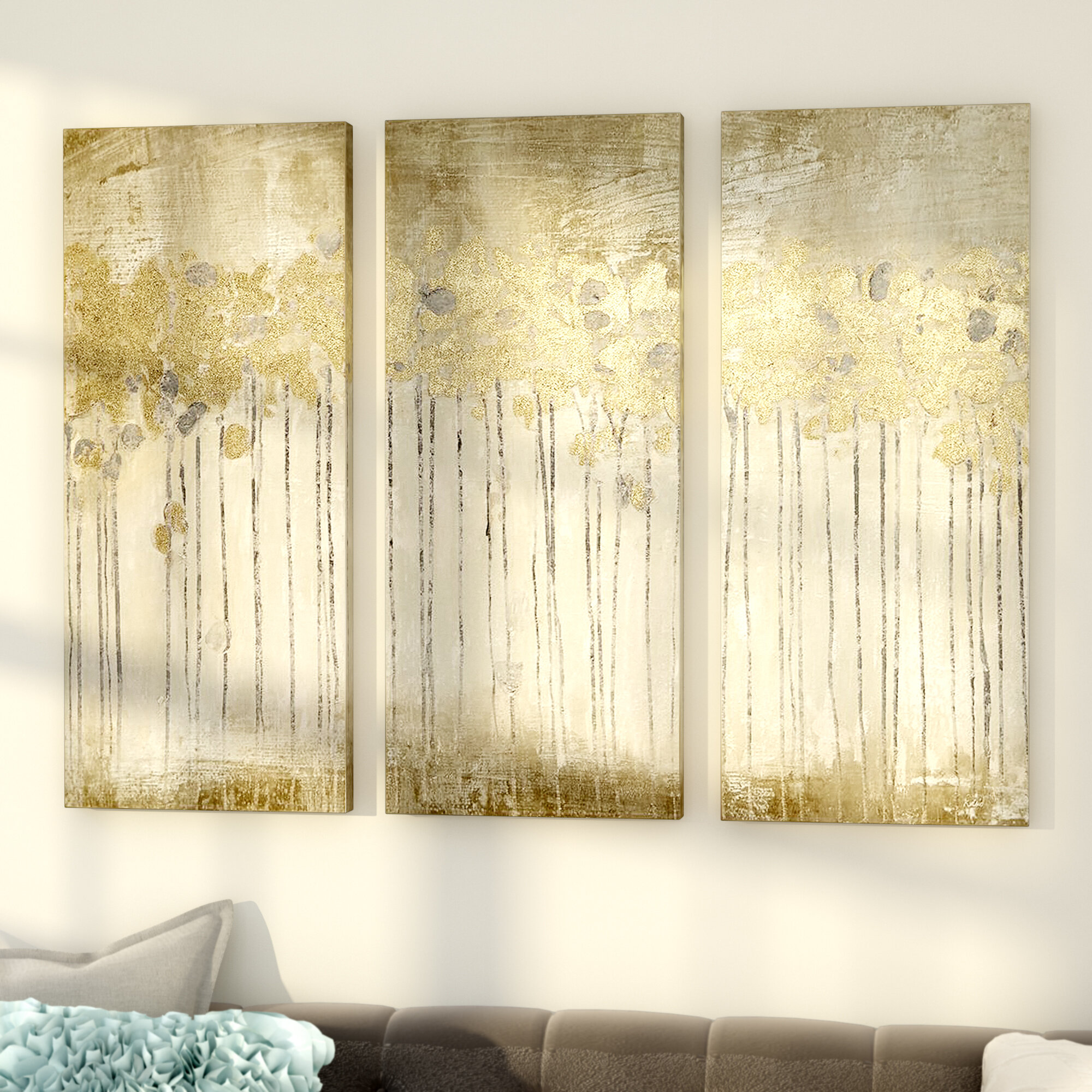 Willa Arlo Interiors \'Sandy Forest\' 3 Piece Painting Print Set ...