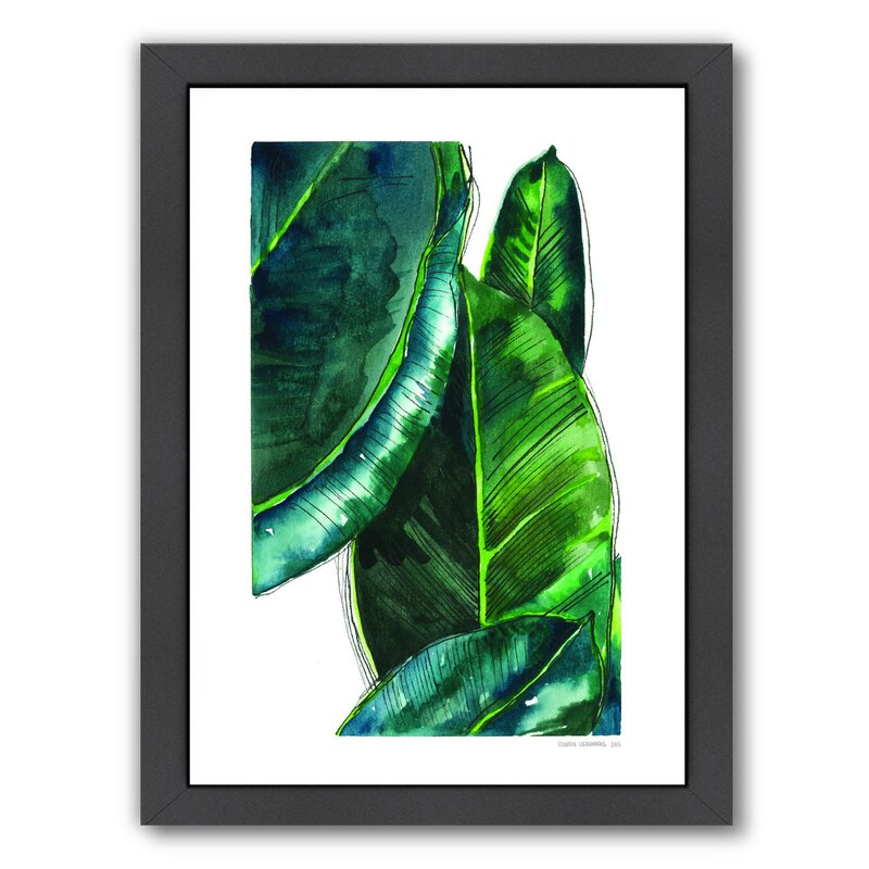 Bay Isle Home Banana Leaves Framed Painting Print Reviews Wayfair