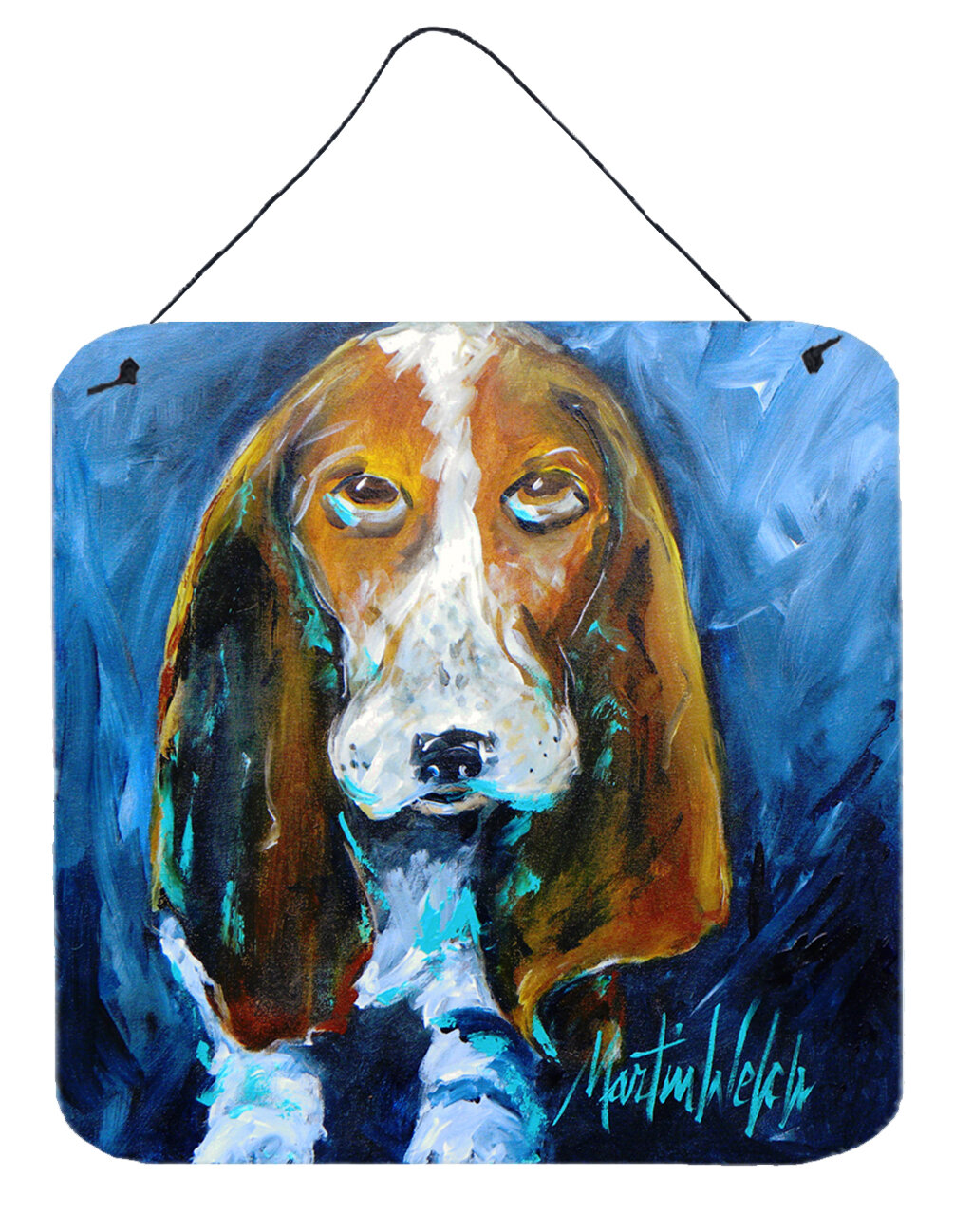 Caroline S Treasures Dog Basset Hound You Talkin Bout Me By Martin Welch Wall Art Plaque Wayfair
