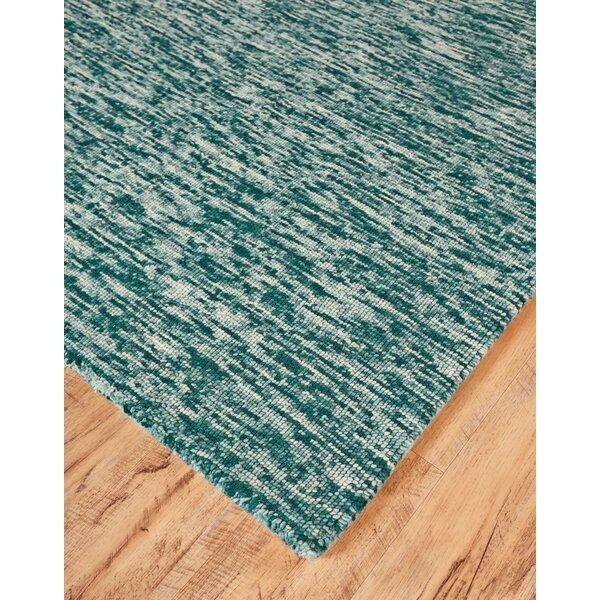 Breakwater Bay Isabela Abstract Handmade Tufted 2 X 3 Wool Teal Area Rug Wayfair
