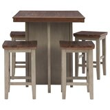 Haviland 5 - Piece Counter Height Dining Set by Rosalind Wheeler