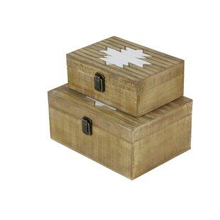 2 Piece Solid Wood Box Set ByCole & Grey