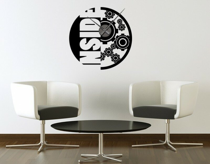 Style And Apply Inside Wall Clock Wall Decal Wayfair