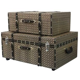 Alcott Hill Millett 2 Piece Texture Trunk Set