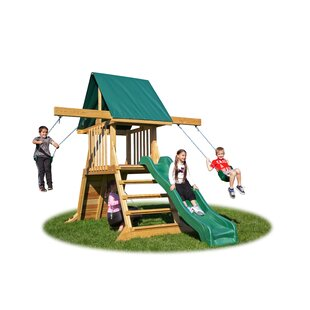 YardCraft Backyard Cliff Climb Play Swing Set