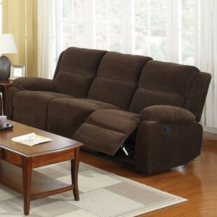 Garduno Leatherette Motion Reclining Sofa Red Barrel Studio