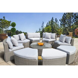 Nantucket 9 Piece Sectional Set with Cushions by Rosecliff Heights