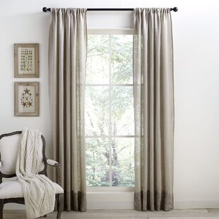 Light Grey Linen Curtains | Wayfair