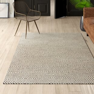 Marcelo Hand-Tufted Wool/Cotton Ivory Area Rug by Mercury Row