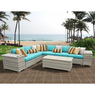 Rosecliff Heights Ansonia 9 Piece Sectional Set with Cushions