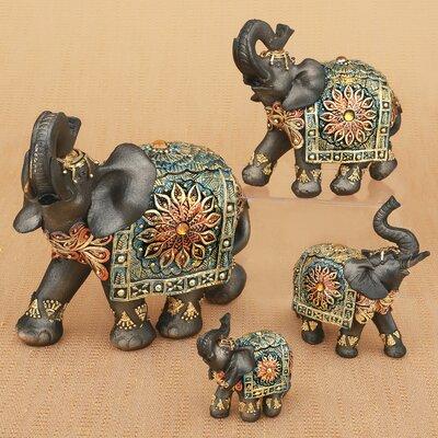 Large elephant statues wayfair bachmann mahogany brown elephants 4 piece figurine set sciox Images