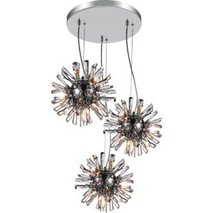 Flair 9-Light Cluster Pendant by CWI Lighting