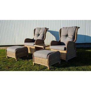 One Allium Way Pilcher 4 Piece Conversation Set with Cushions