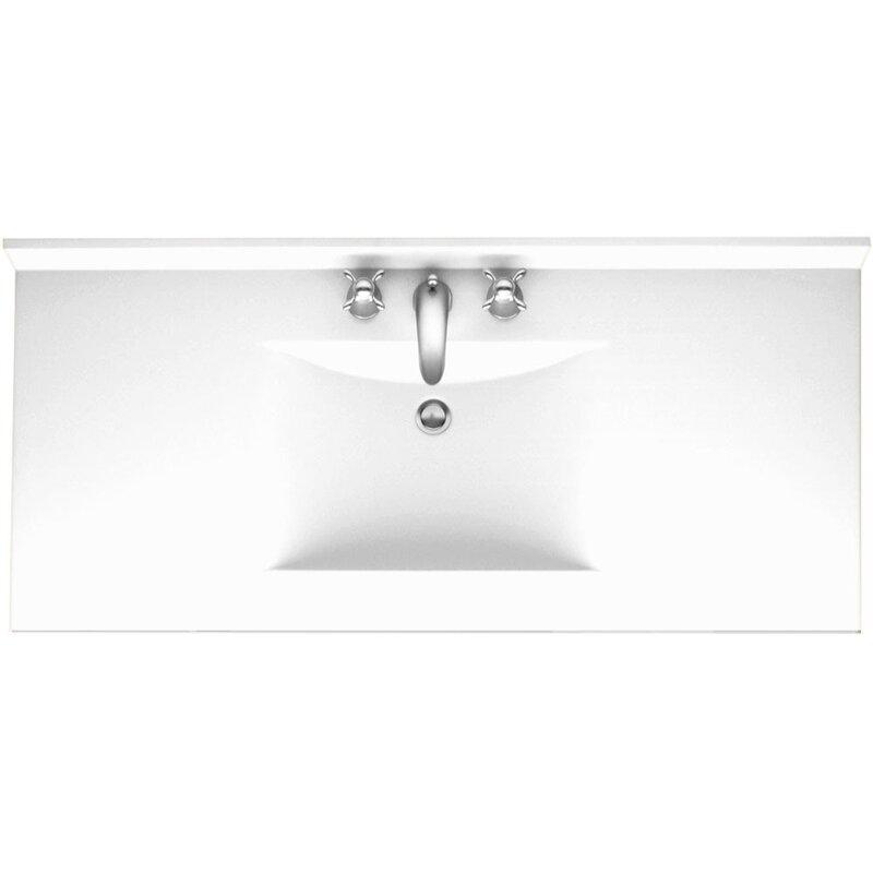 Swan Surfaces Contour 49 Single Bathroom Vanity Top With Sink Reviews Wayfair