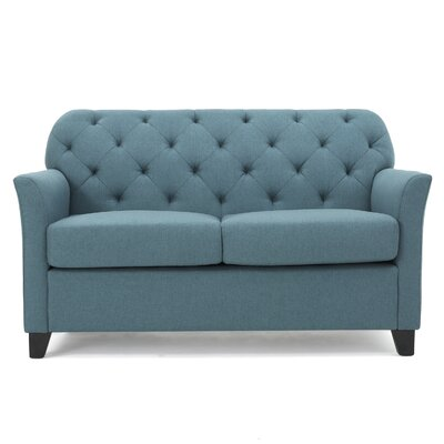 Amabel Loveseat Upholstery Color: Dark Teal by Andover Mills