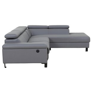 Axton Modern Reclining Sectional with Electrical Recliner By Orren Ellis